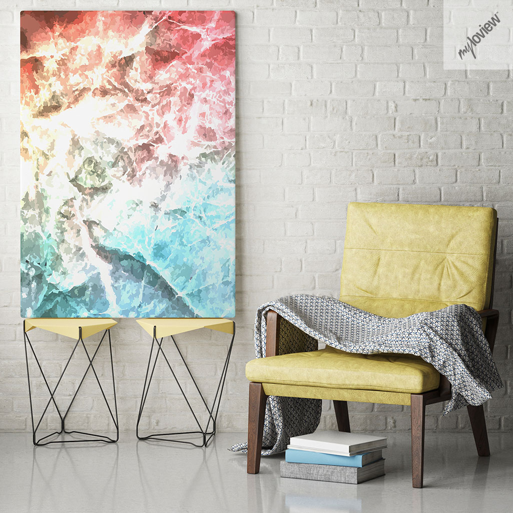 Mock up poster frames in hipster interior background, 3D renderi