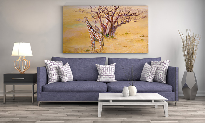 Obraz Afryka sawanna