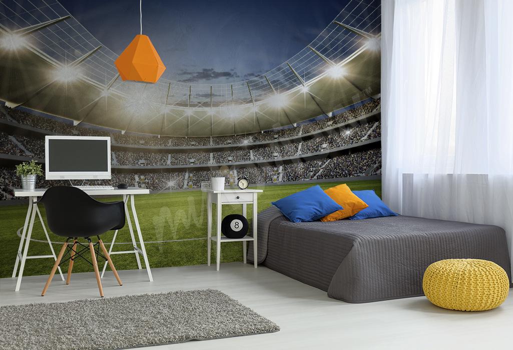 Fototapeta 3d do pokoju chłopca stadion piłkarski