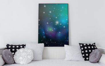 Plakat z kosmosem