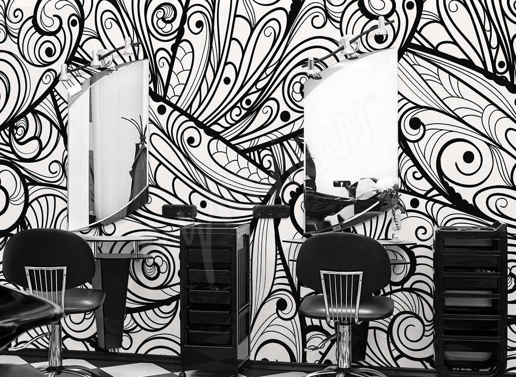 Abstrakcyjna fototapeta do salonu fryzjerskiego