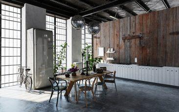 Fototapeta loft drewniane deski