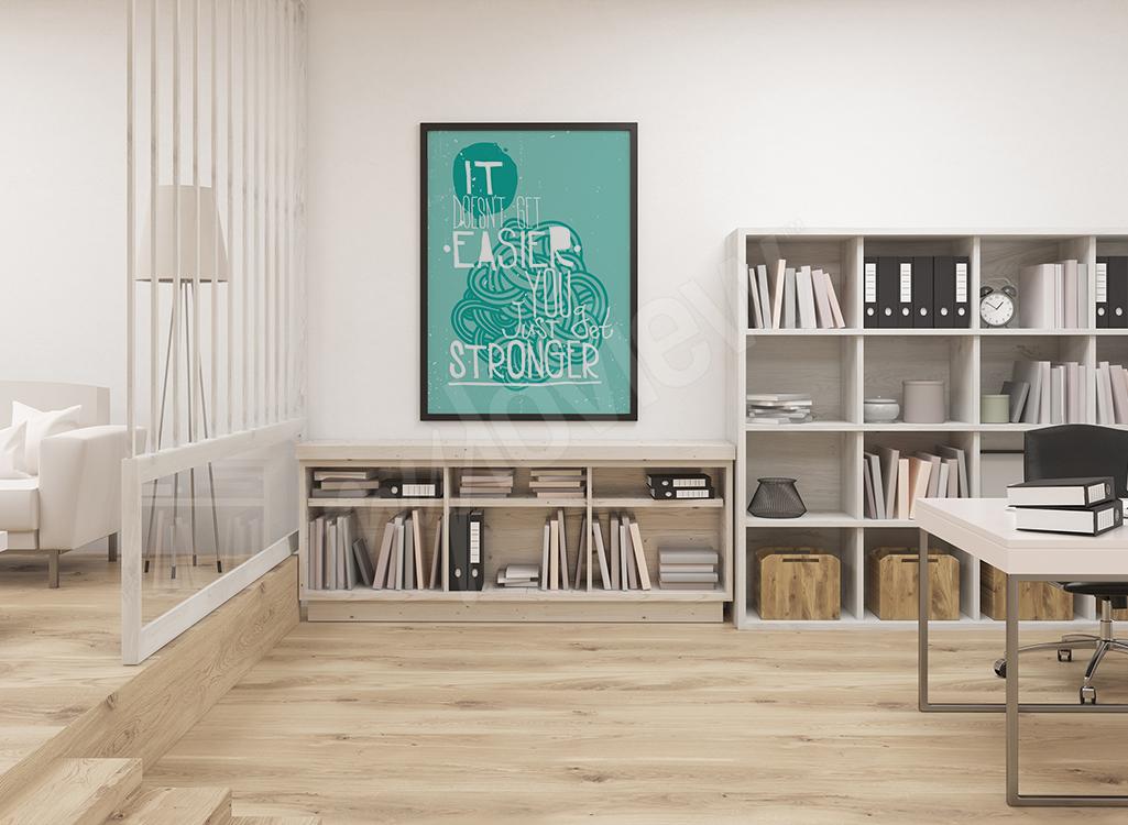 Plakat motywacyjny do domowego biura