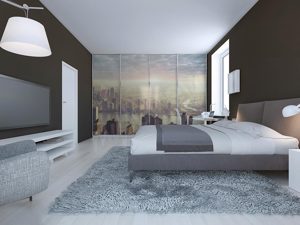 Fototapeta na szafę z panoramą miasta