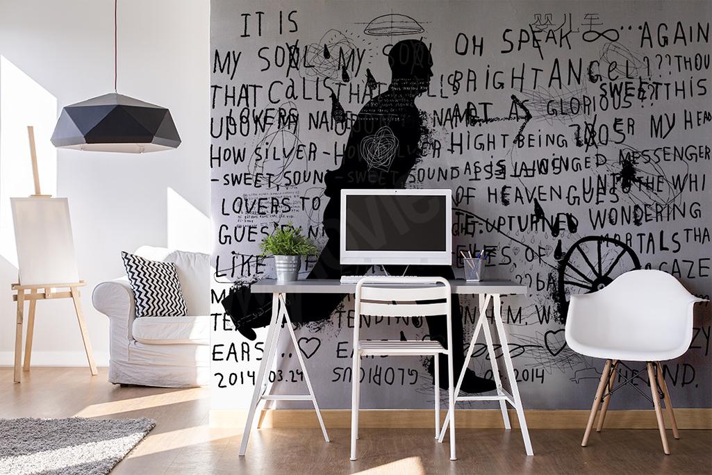 Fototapeta czarno-białe graffiti