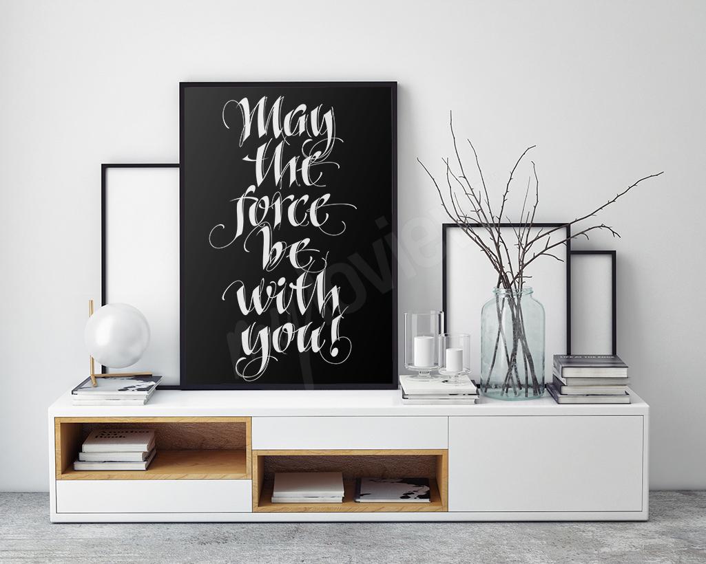 plakat typograficzny z Gwiezdnych Wojen