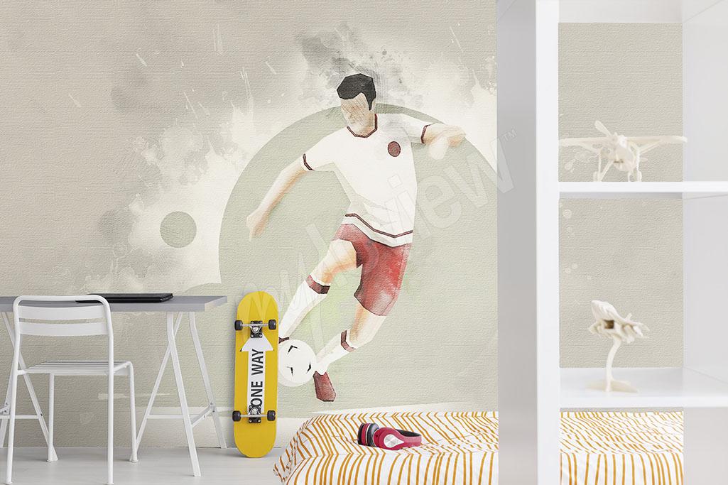 Fototapeta piłkarz do pokoju chłopca