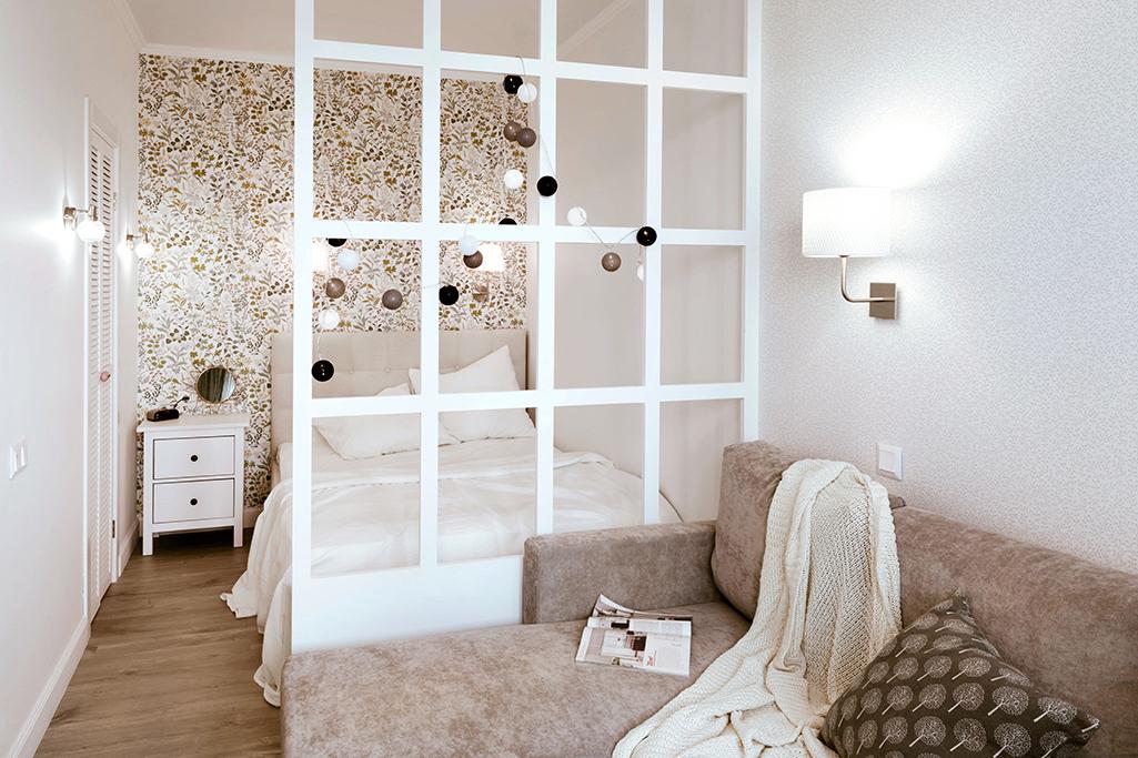 Sypialnia za ścianką