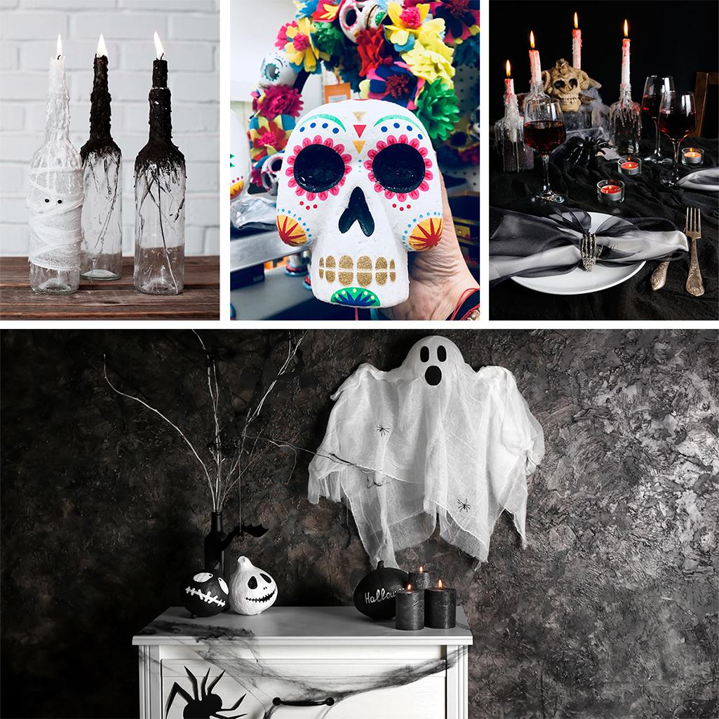 Dekoracje na halloweenowy stół