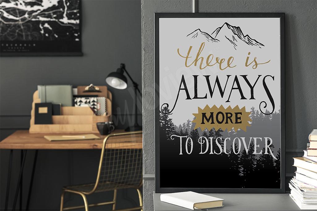 Motywujący plakat dla podróżnika