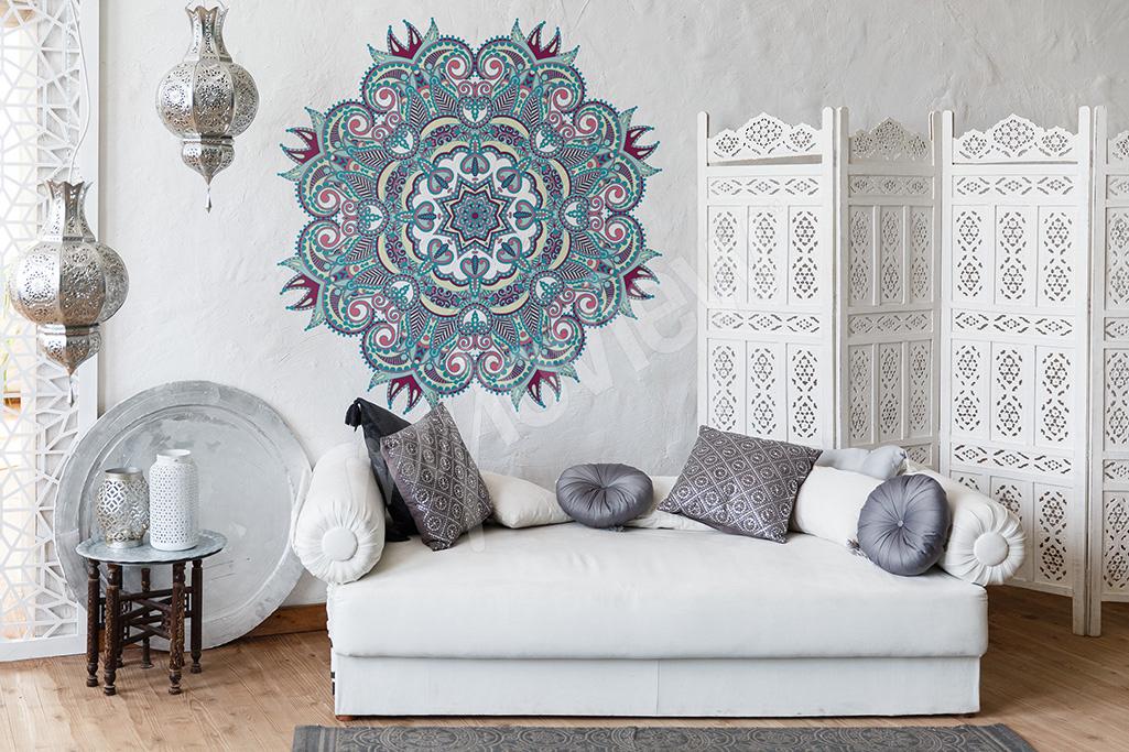 Naklejka orientalna mandala