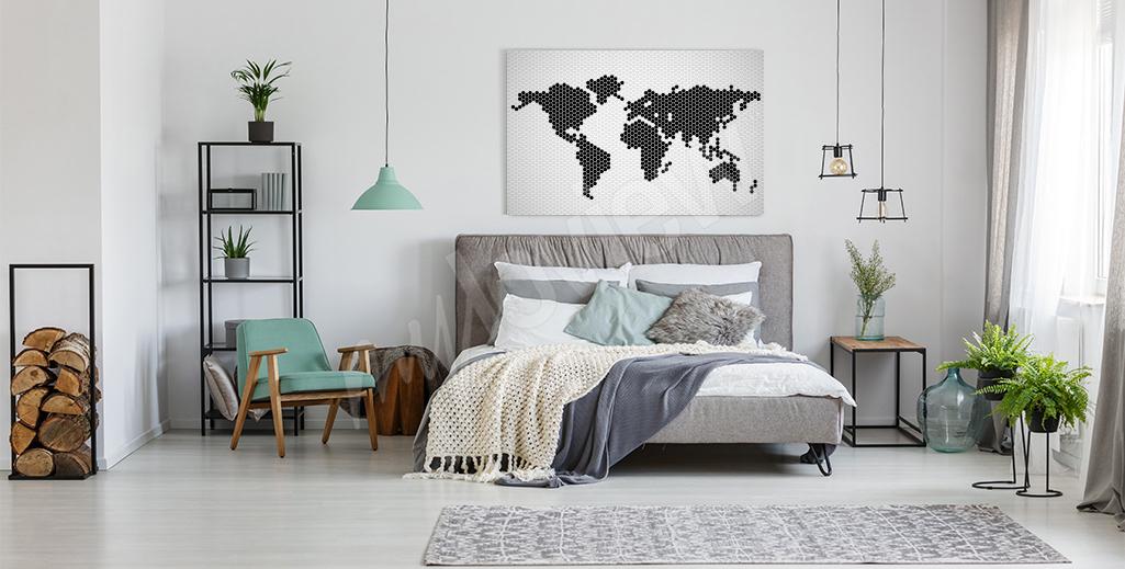Obraz nowoczesna mapa świata