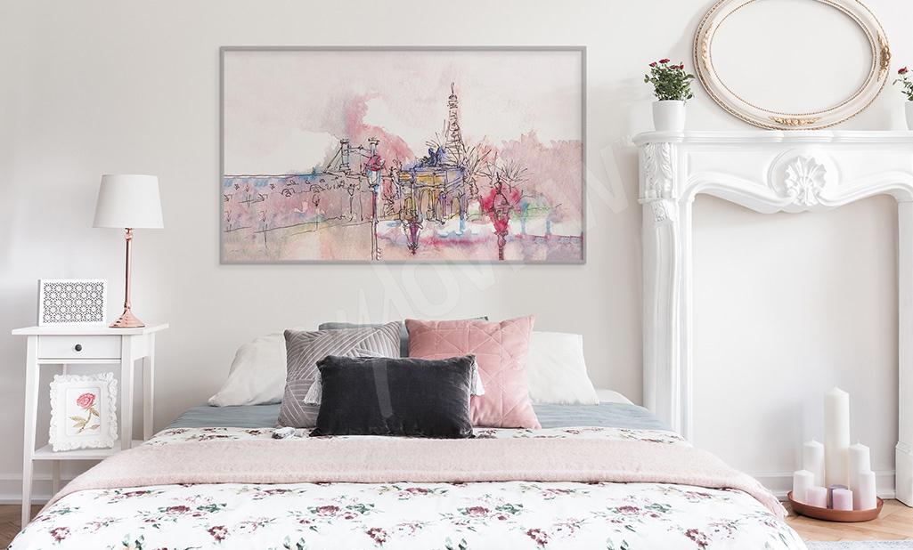 Obraz akwarelowy Paryż