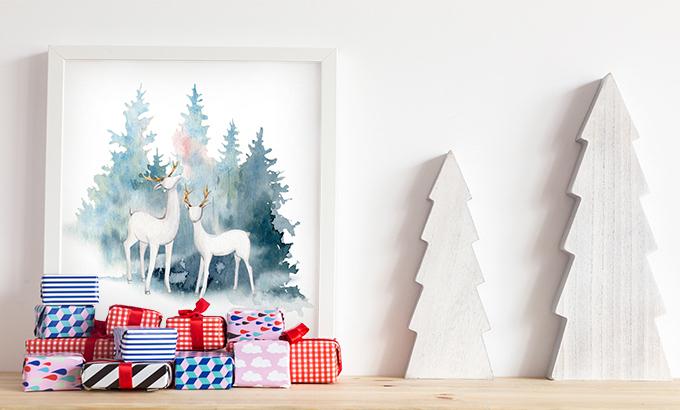 Obraz jelenie w lesie
