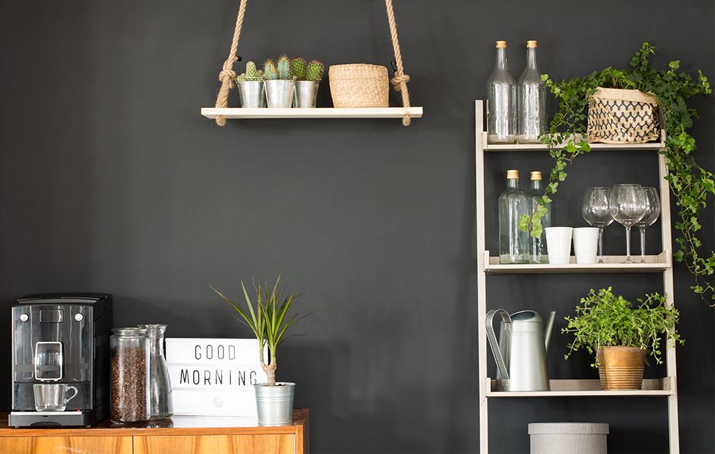 Kuchenne półki w stylu nowoczesnym