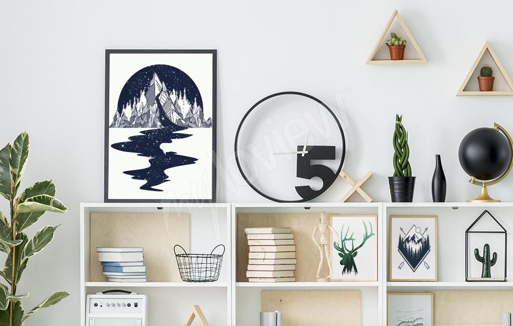 Nowoczesna stylizacja półki w salonie