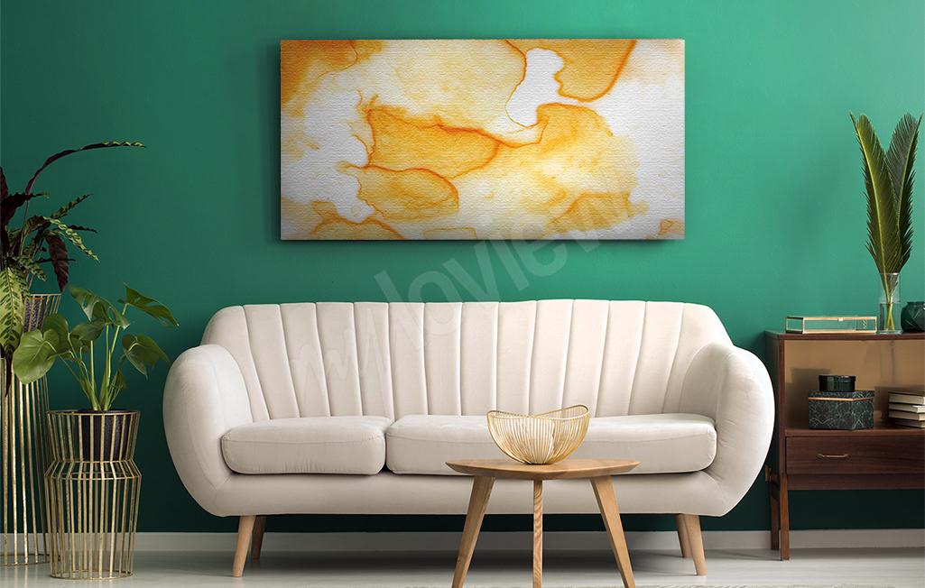 Obraz abstrakcja w odcieniu żółci