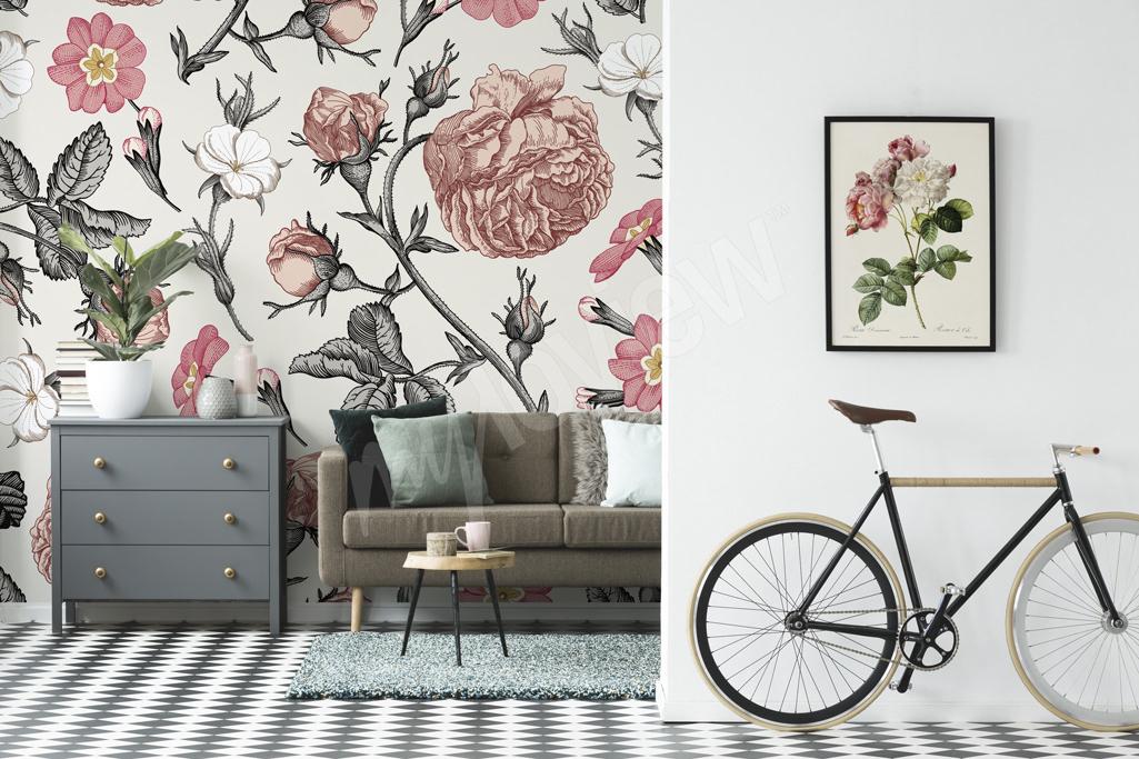Fototapeta i plakat w kwiaty w stylu vintage