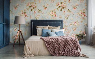Fototapeta romantyczny kwiatowy wzór