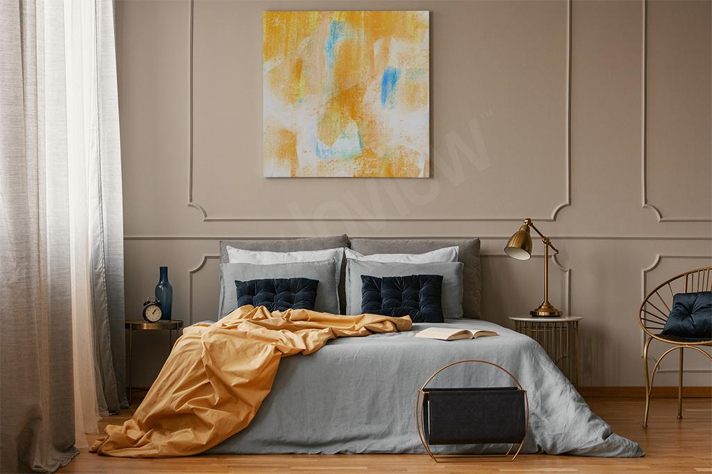 Abstrakcyjny obraz w ciepłych barwach