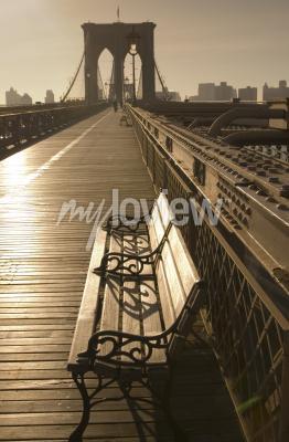 Plakat Brooklyn bridge in sepia
