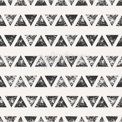 Fototapeta Abstract seamless pattern with stamped triangular shapes