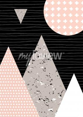 Dots pattern and geometric elements