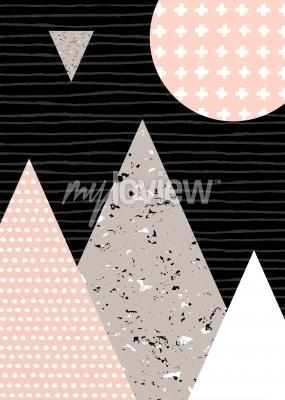 Fototapeta Dots pattern and geometric elements