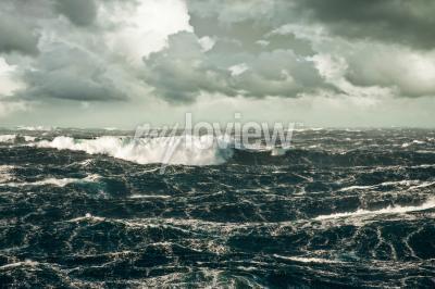Obraz Huge Wave Crashing Down at Storming North Atlantic