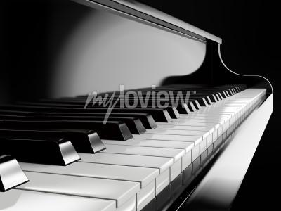 Obraz Piano keys on black piano