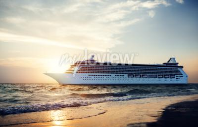 Fototapeta Yacht Cruise Ship Sea Ocean Tropical Scenic Concept