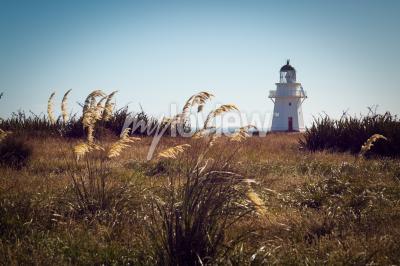 Fototapeta Historic Lighthouse at Waipapa Point Catlins New Zealand