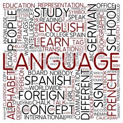 Fototapeta Word cloud language