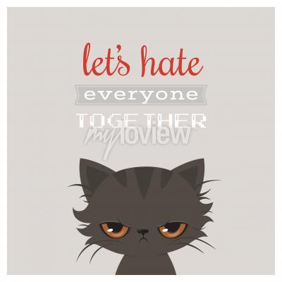 Plakat Angry cat cartoon
