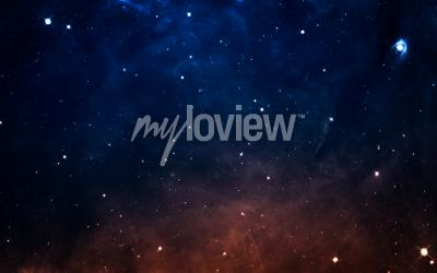 Fototapeta Starfield in deep space many light years far from the Earth