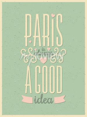 Fototapeta Vintage style typography Paris poster