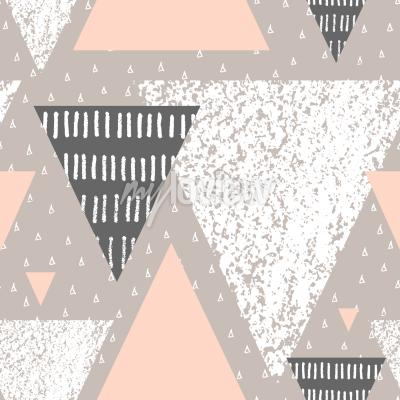 Fototapeta Abstract geometric seamless repeat pattern in white gray and pastel pink