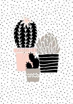 Fototapeta Scandinavian style illustration