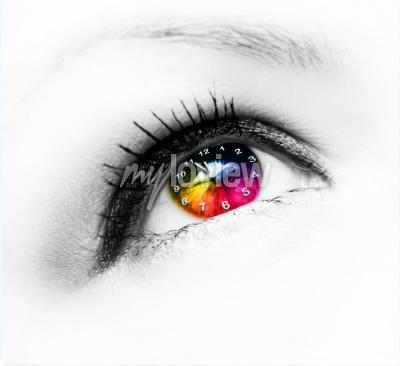 Obraz Clock in eye