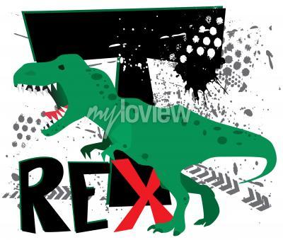 Fototapeta Dangerous t-rex
