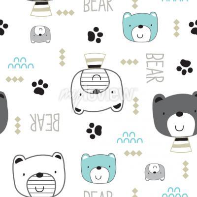 Tapeta Cute teddy bear cartoon