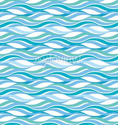 Tapeta Abstract wavy ocean background
