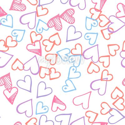 Pink hearts seamless pattern