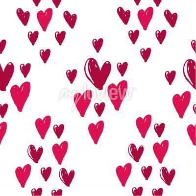 Tapeta Hearts seamless pattern background