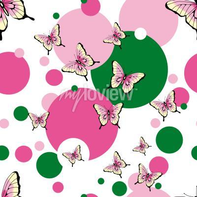 Butterflies seamless vector pattern