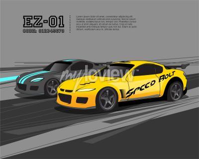 Fototapeta Racing Car Design Template