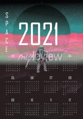Plakat Kalendarz 2021 kosmos