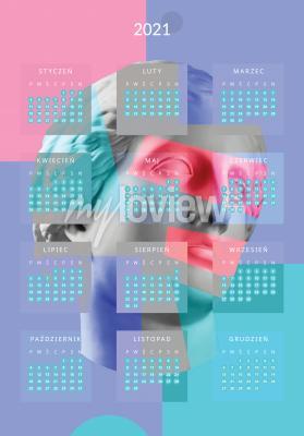 Plakat Kalendarz 2021 rzeźba