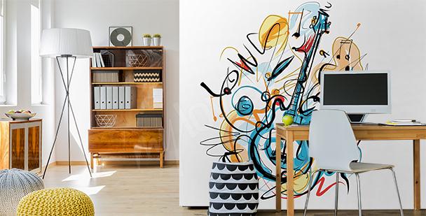 Abstrakcyjna fototapeta z muzyką