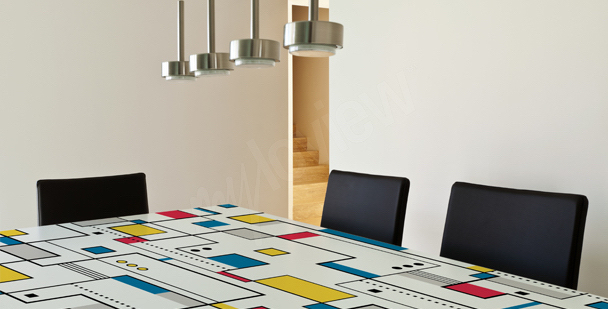 Abstrakcyjna naklejka na stół